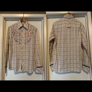 English Laundry Men's Embroidered Shirt